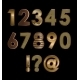 Gold Font Digits - GraphicRiver Item for Sale
