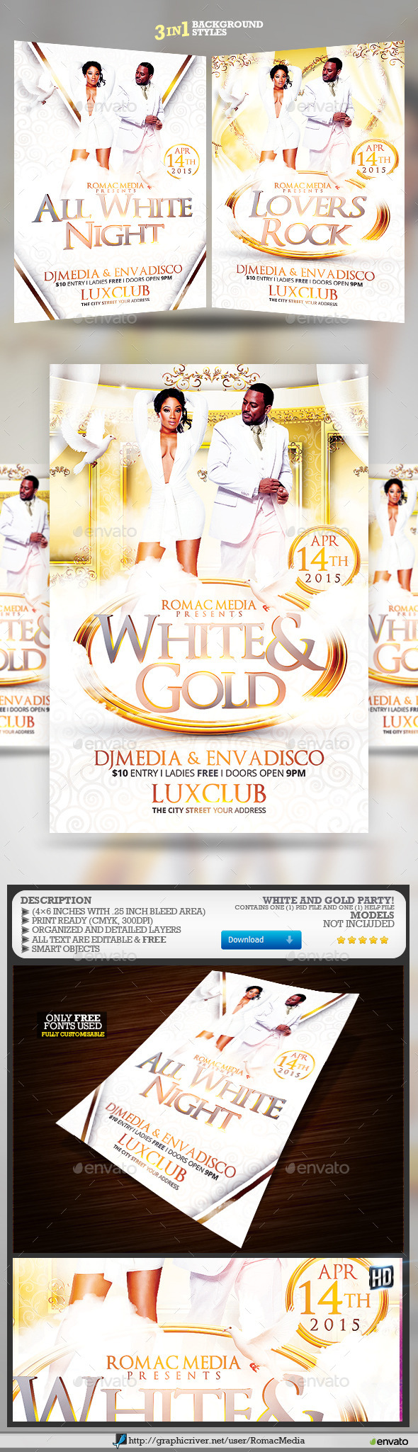 White and Gold Birthday Party - Clubs & Parties Events