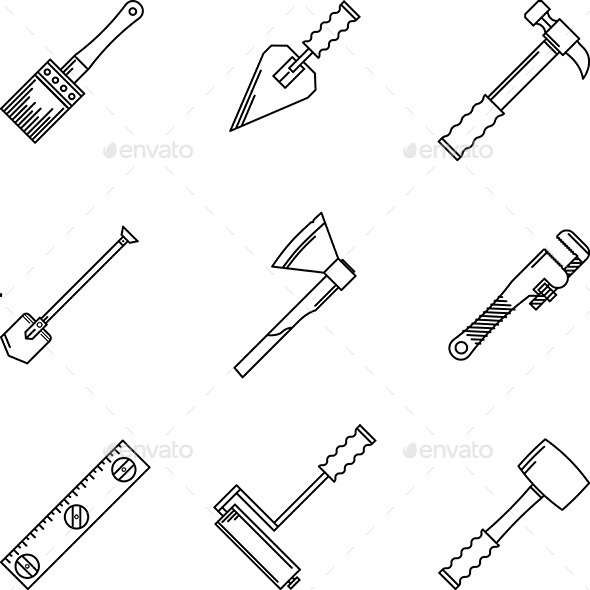 Contour Hand Tools - Man-made Objects Objects