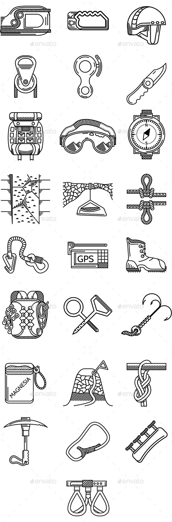Rock Climbing Icons - Sports/Activity Conceptual