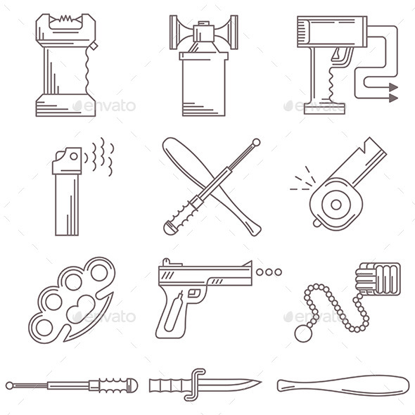 Self Defense Weapons - Man-made Objects Objects