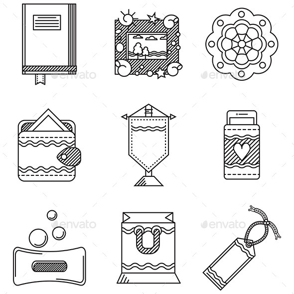 Handmade Icons - Conceptual Vectors