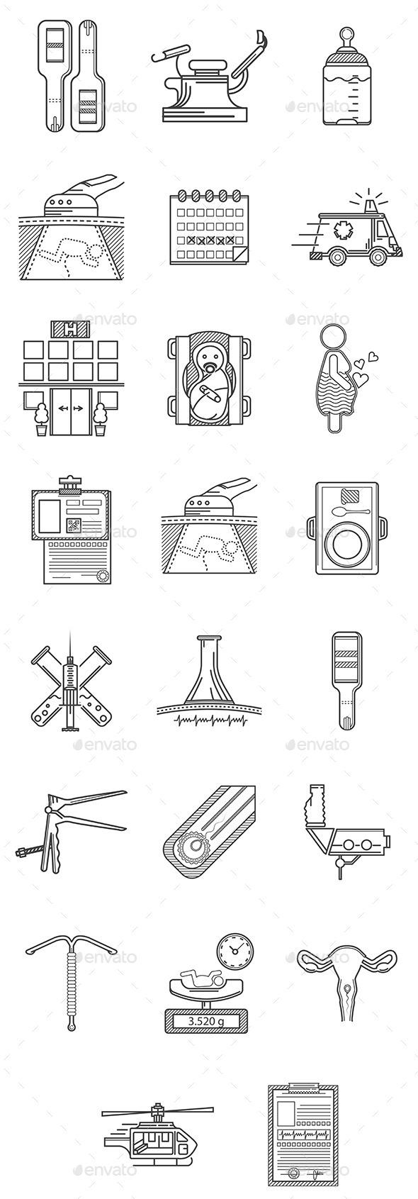 Gynecology Icons - Health/Medicine Conceptual
