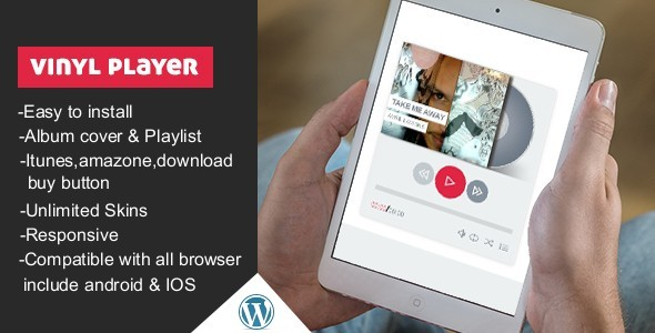 Vinyl WordPress Audio Player With Playlist - CodeCanyon Item for Sale
