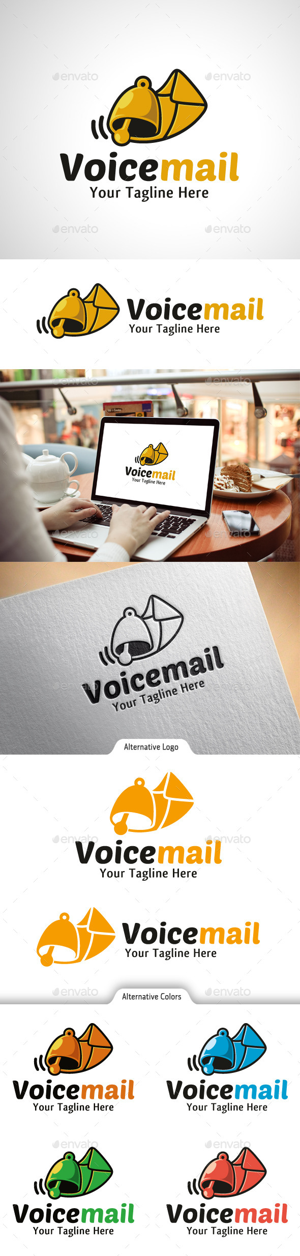 Voice Mail Logo - Objects Logo Templates