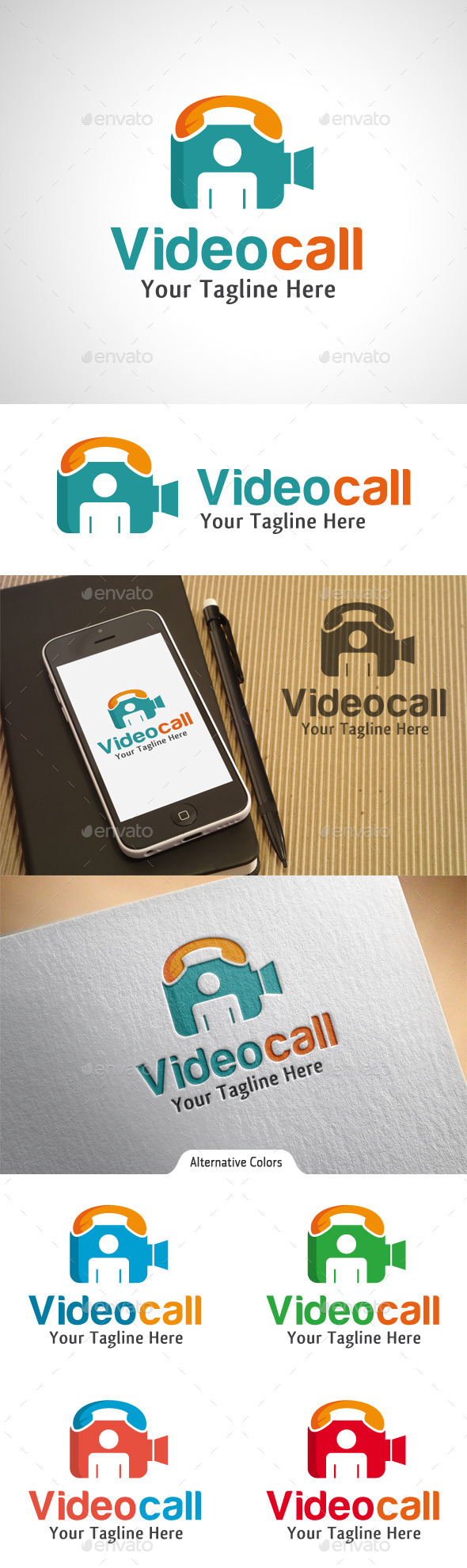 Video Call Logo - Objects Logo Templates