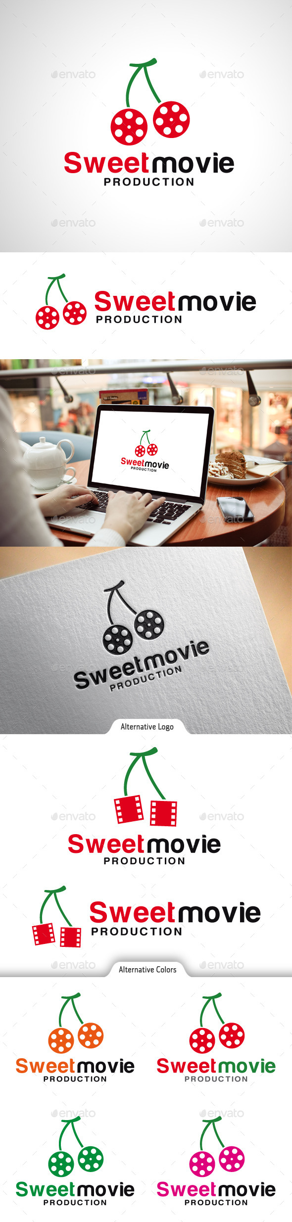 Sweet Movie Logo - Objects Logo Templates