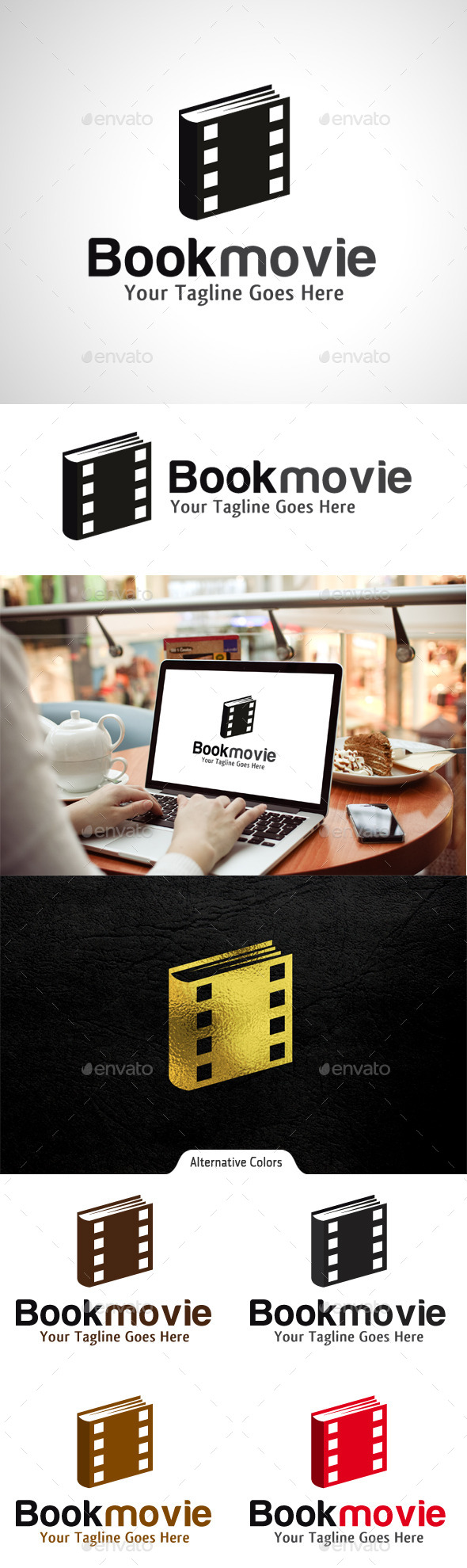 Movie Book Logo - Objects Logo Templates