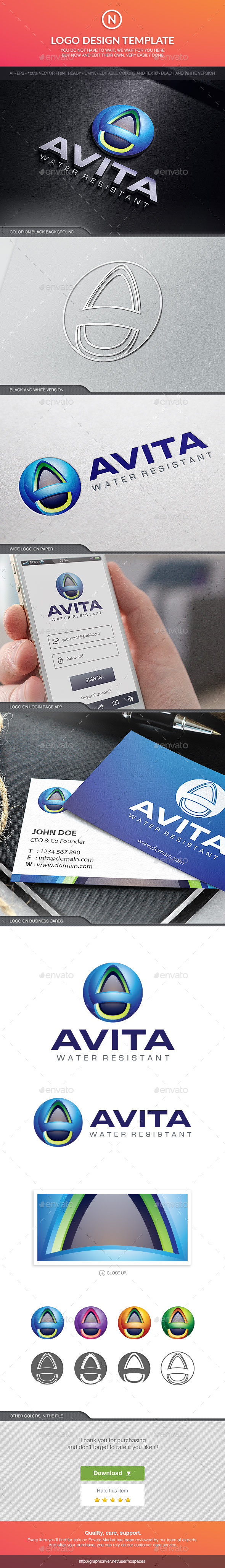 Avita Water - 3d Abstract