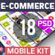 E-commerce Mobile UI Kit - GraphicRiver Item for Sale