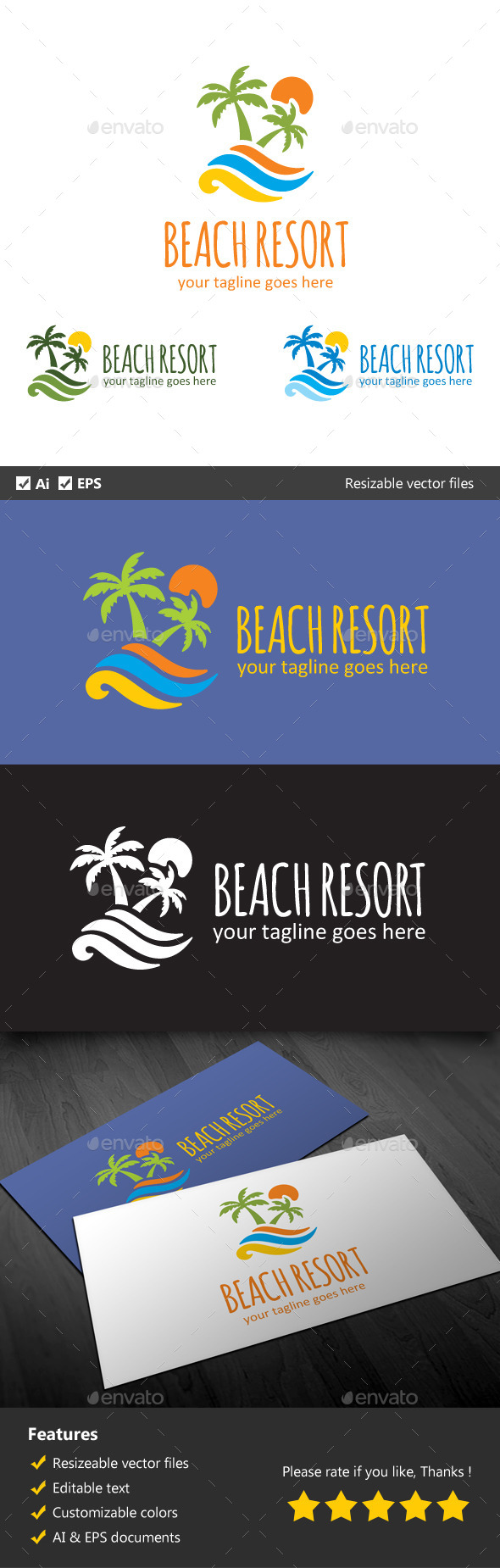 Beach Resort - Nature Logo Templates
