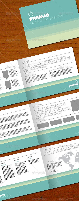 Premio 8-page brochure - Corporate Brochures