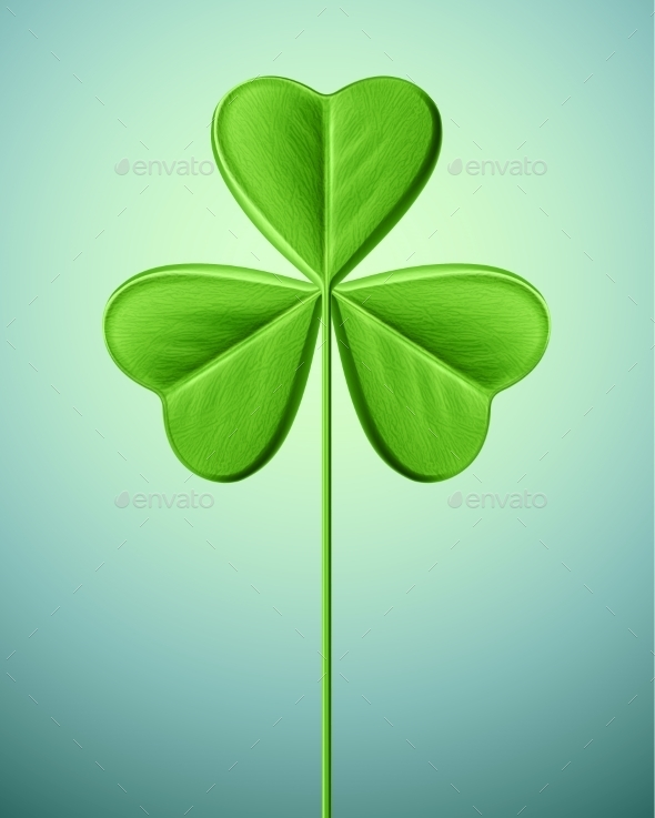 Isolated Shamrock - Miscellaneous Seasons/Holidays