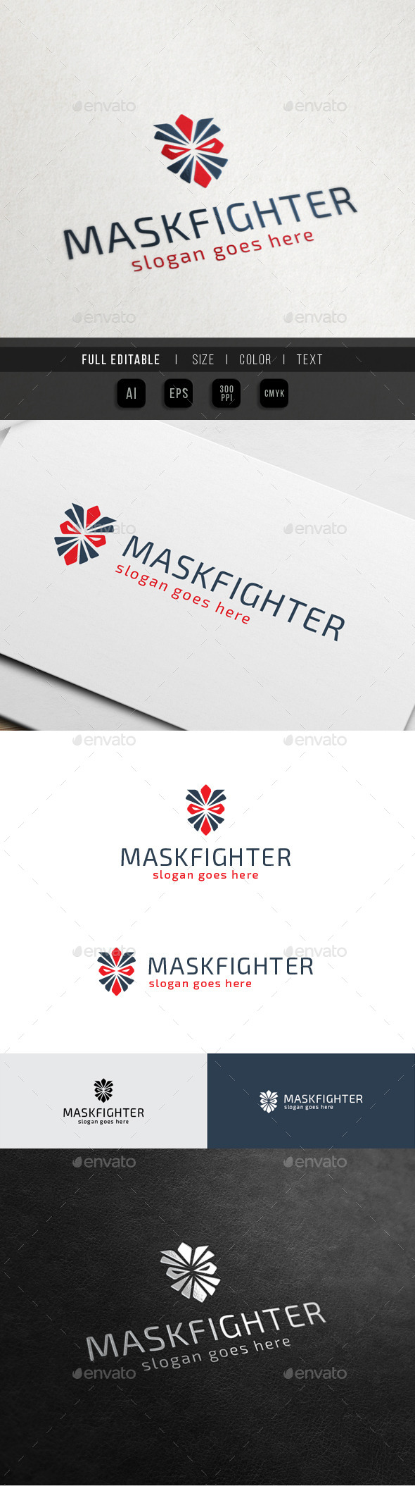 Mask Fighter - Rider Club - Abstract Logo Templates