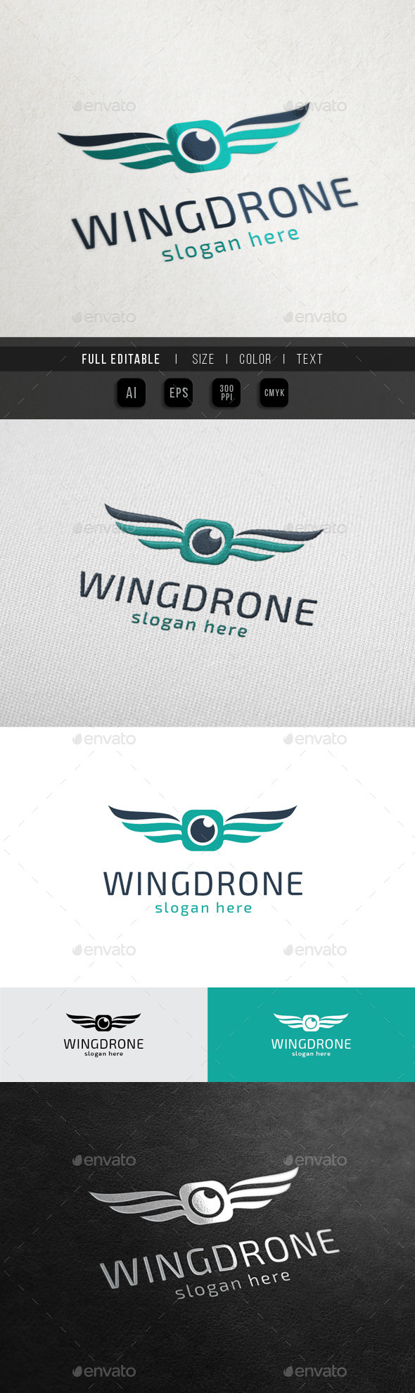 Wing Drone - Sky Camera - Objects Logo Templates