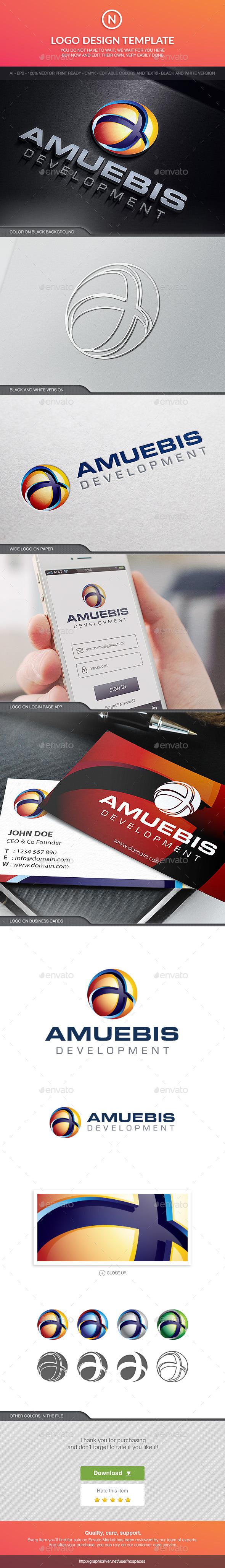 Amuebis Tech Sphere - Abstract Logo Templates
