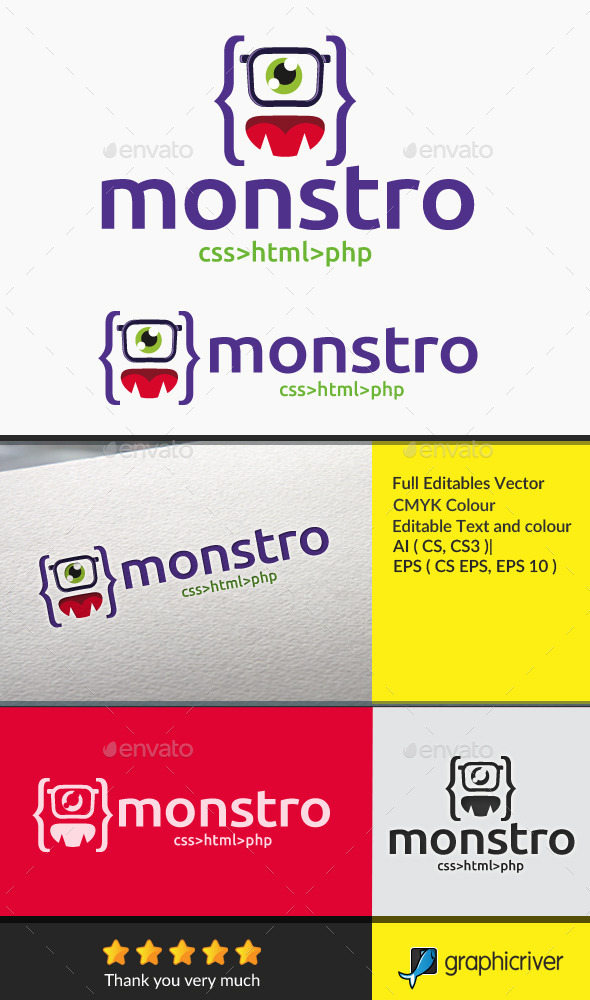 monster code - Objects Logo Templates