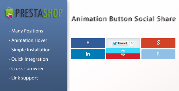 Animated Social Share Buttons  for Prestashop - CodeCanyon Item for Sale