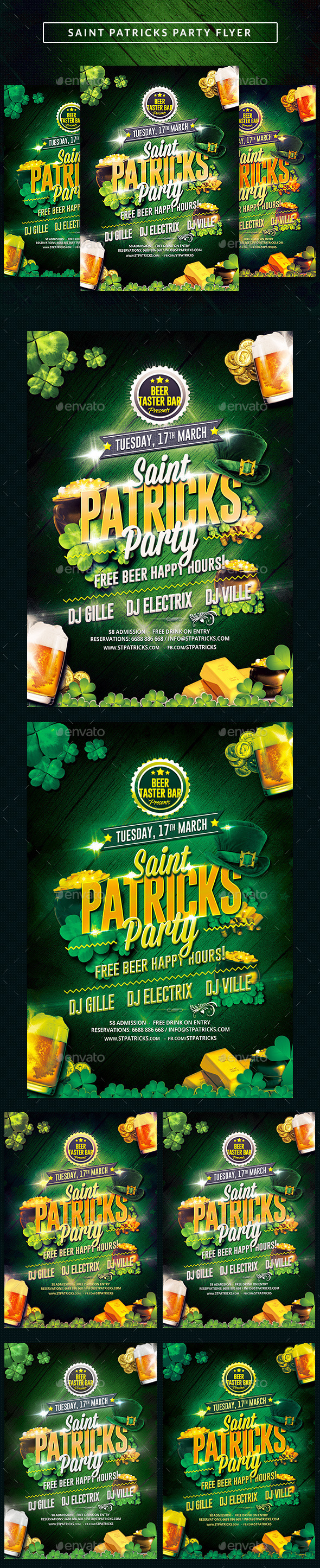 Saint Patricks Party Flyer - Clubs & Parties Events