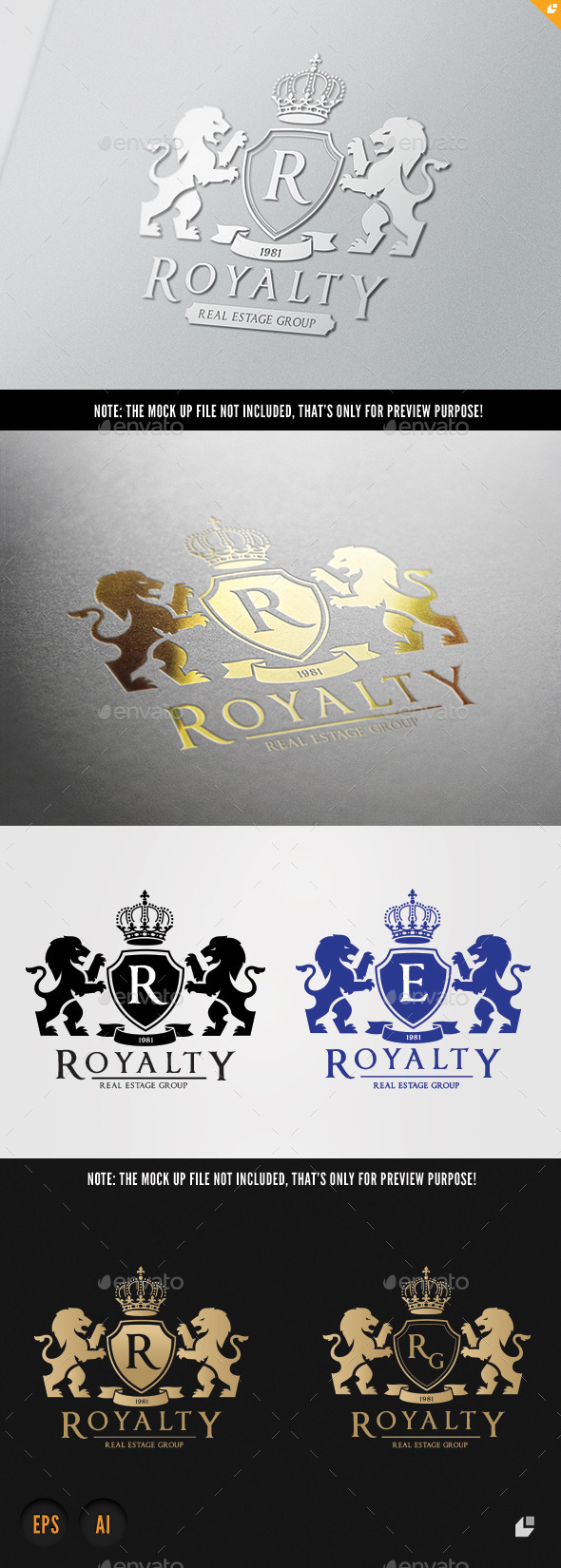 Royalty Real Estate - Crests Logo Templates
