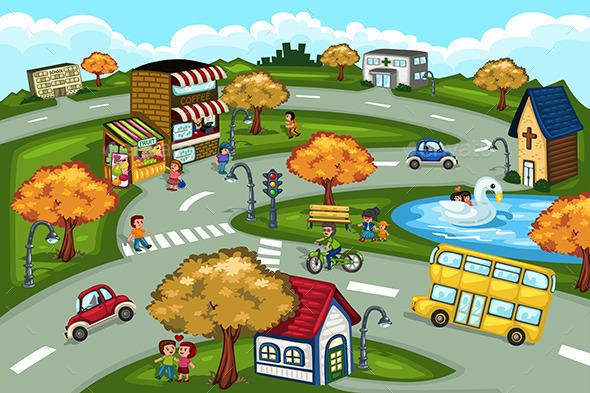 City Scene - People Characters