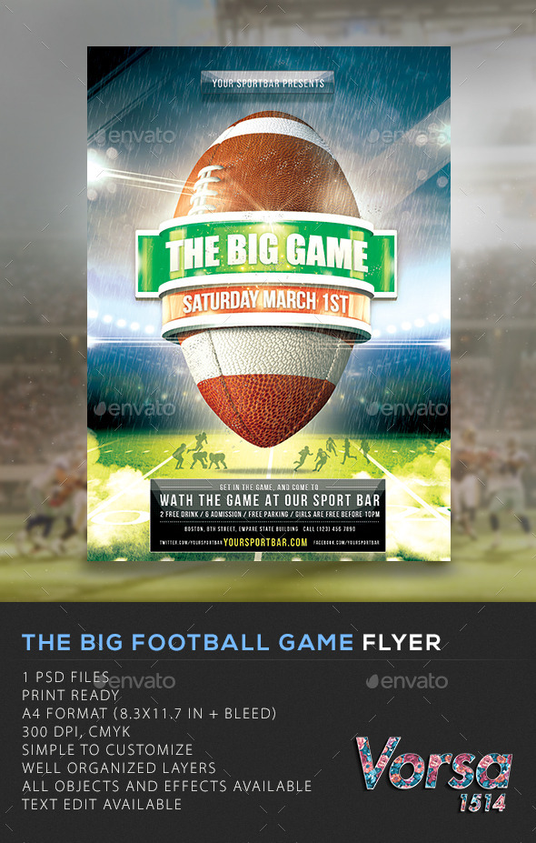 The Big Football Game Flyer - Sports Events