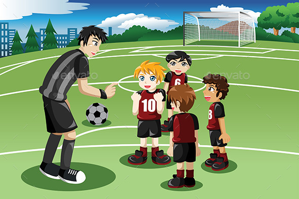 Little Kids on Soccer Field - Sports/Activity Conceptual