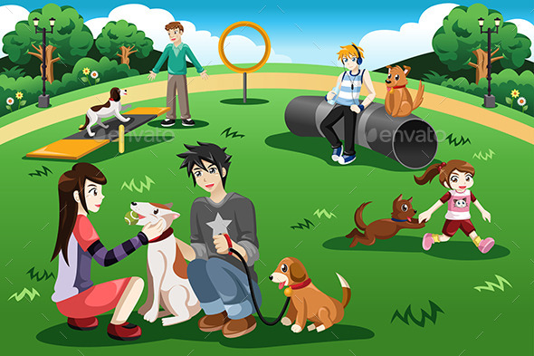 People in a Dog Park - Sports/Activity Conceptual