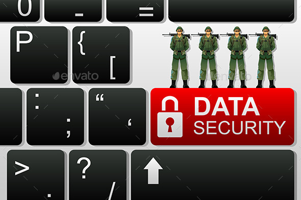 Concept of Data Security - Services Commercial / Shopping