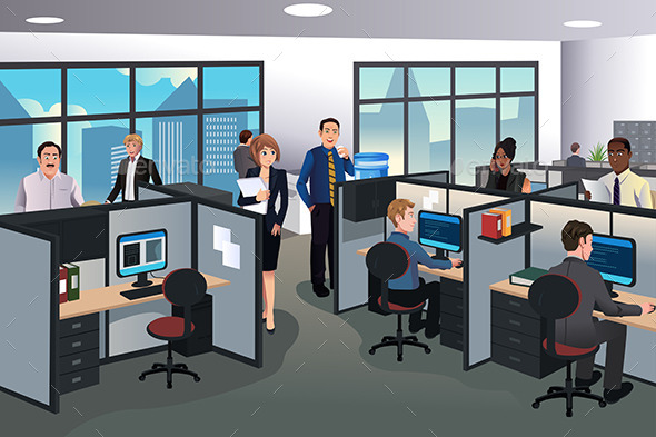 People Working in the Office - Business Conceptual