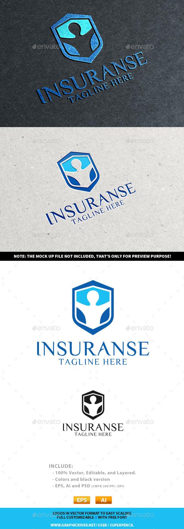 InsuranSe Logo - Humans Logo Templates