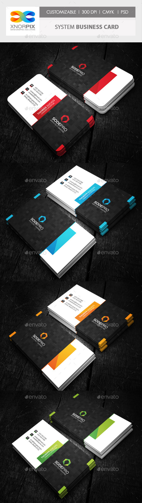 System Business Card - Corporate Business Cards
