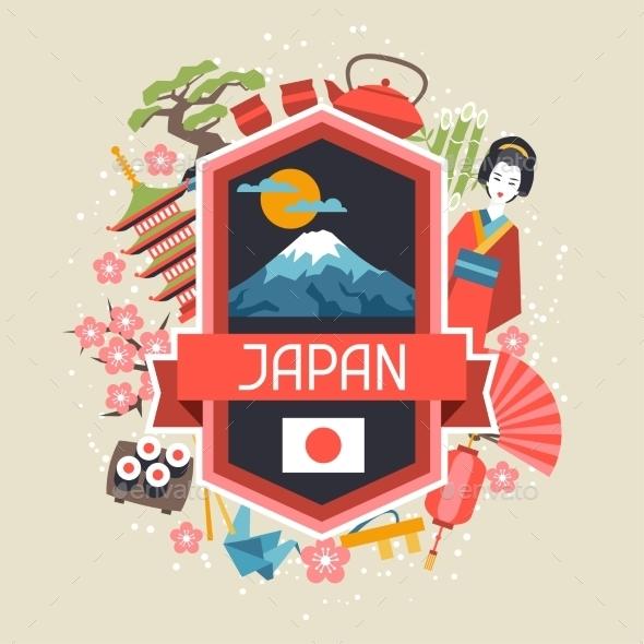 Japan Background Design - Travel Conceptual