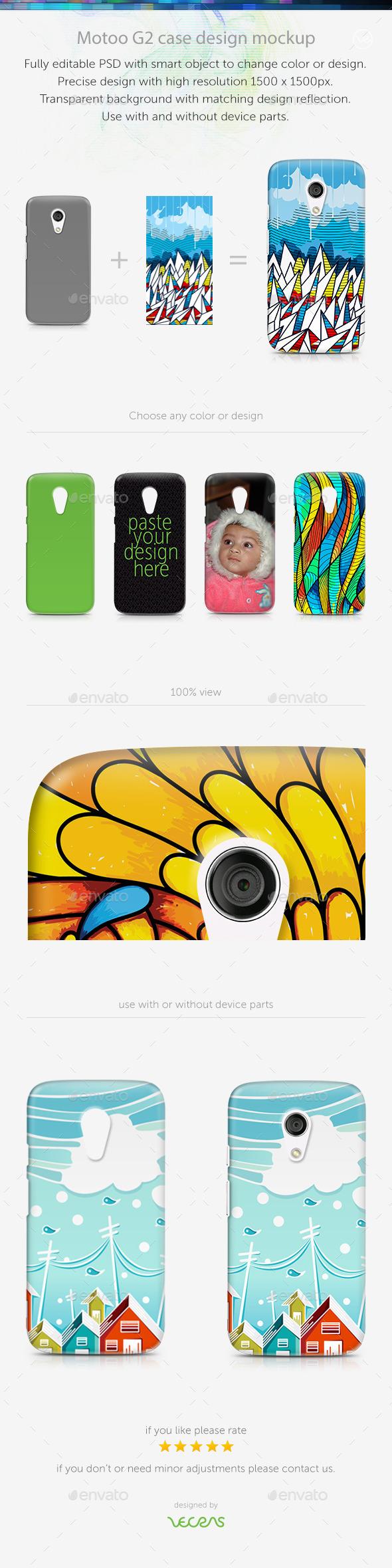 Motoo G2 Case Design Mockup - Mobile Displays