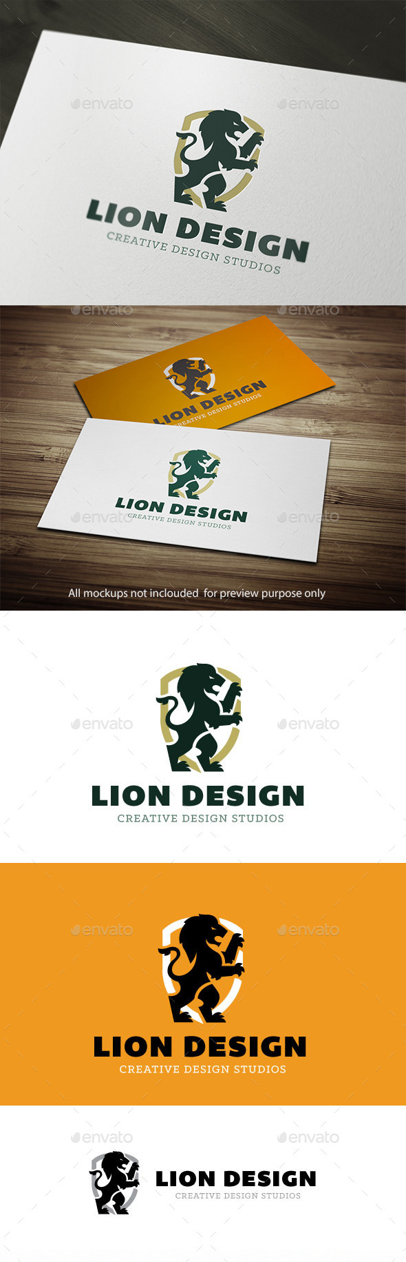 Lion Logo - Crests Logo Templates