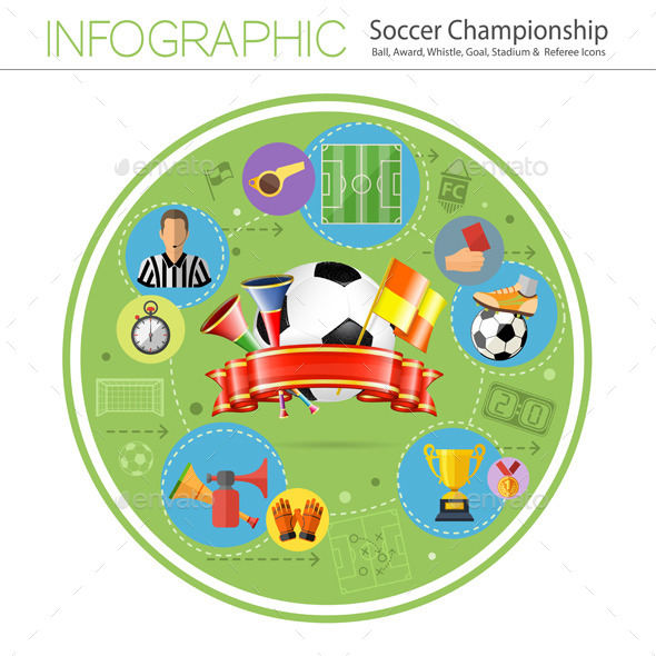 Soccer Infographics - Sports/Activity Conceptual