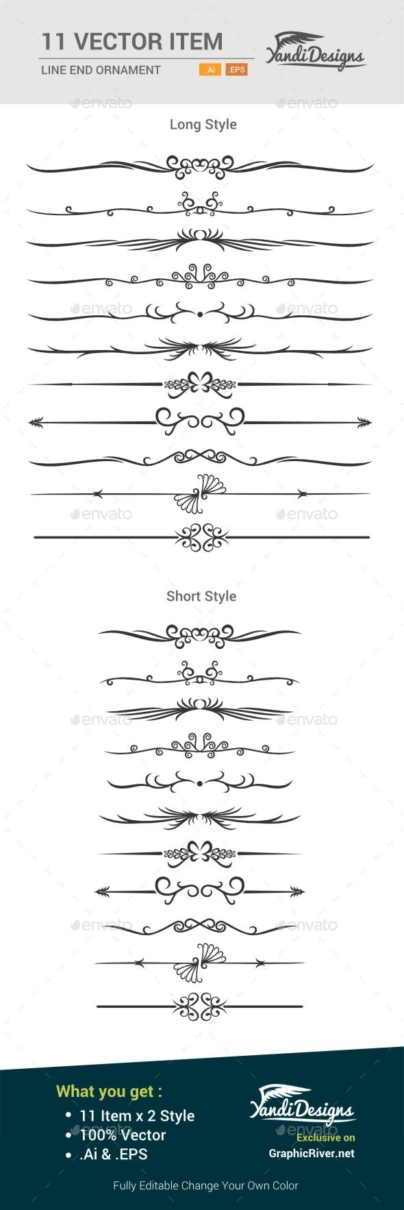 Line Ornament - Decorative Vectors