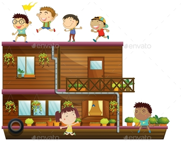 Children and Boat - People Characters