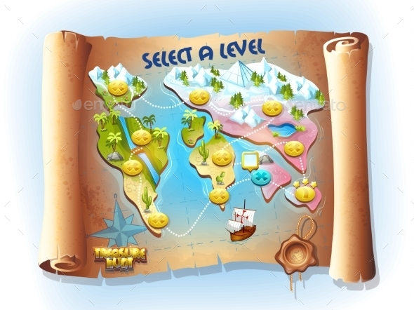 Map of Treasure Hunting - Miscellaneous Vectors
