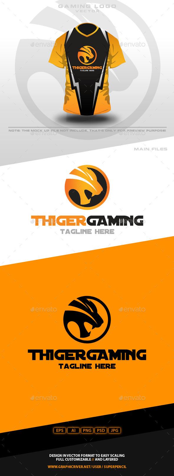 Thiger Gaming Logo - Animals Logo Templates