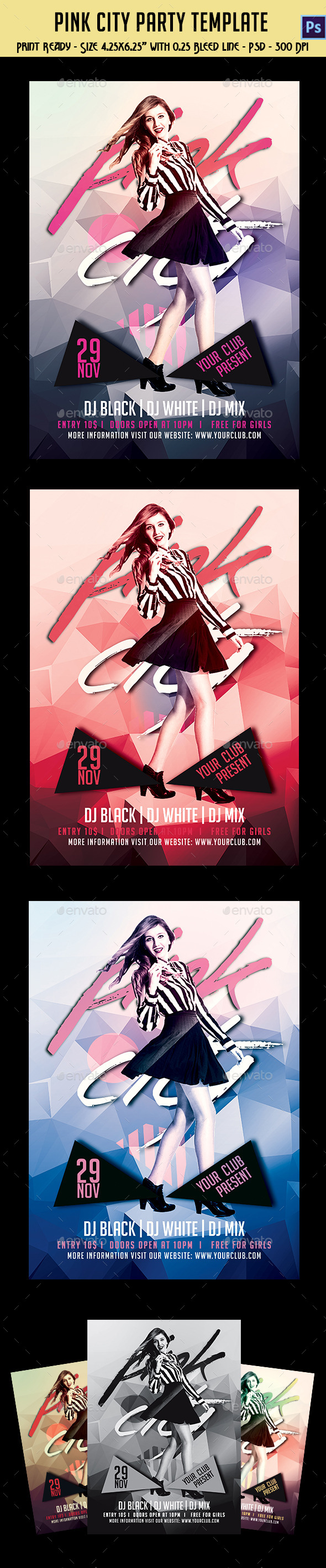 Pink City Party Flyer - Clubs & Parties Events