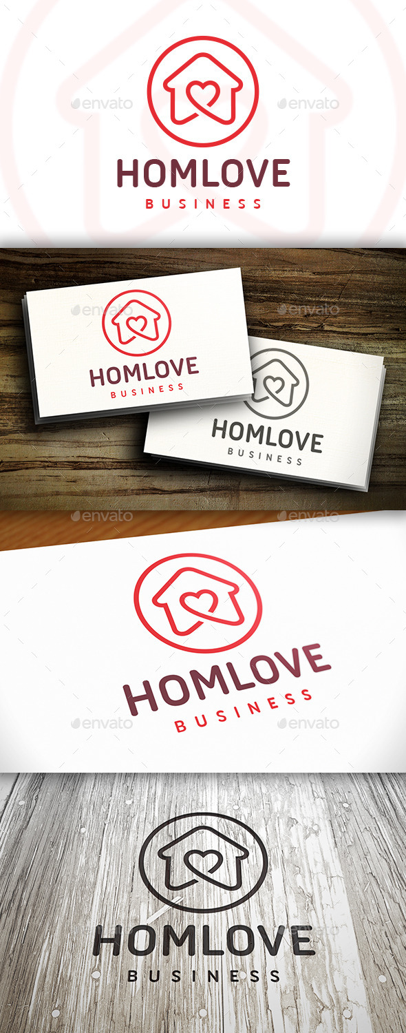 House Love Logo - Buildings Logo Templates