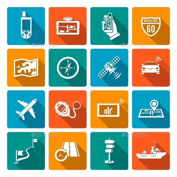 Navigation Icons - Travel Conceptual