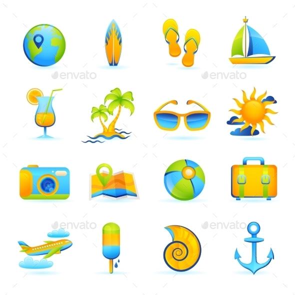 Summer Vacation Set - Travel Conceptual