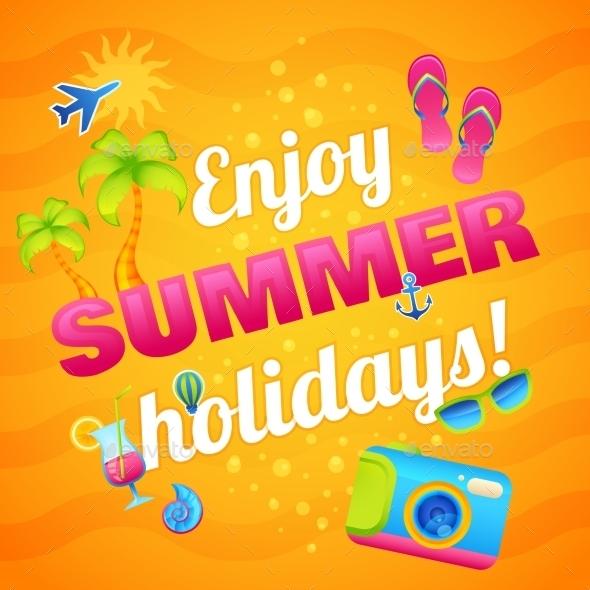 Summer Vacation Poster - Seasons Nature