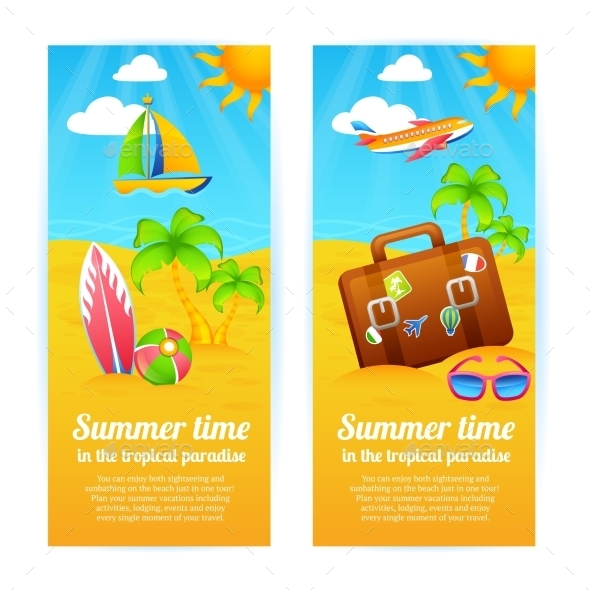 Summer Vacation Banners - Seasons Nature