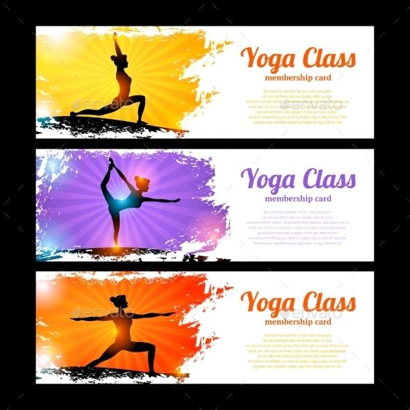 Yoga Banner Set - Sports/Activity Conceptual