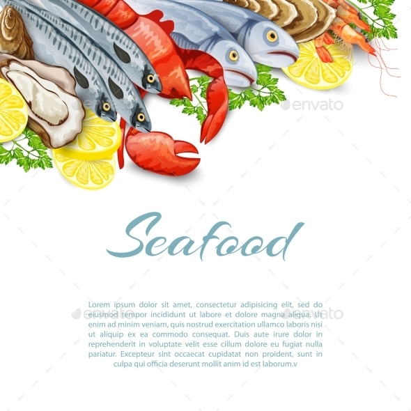 Seafood Products Background - Food Objects