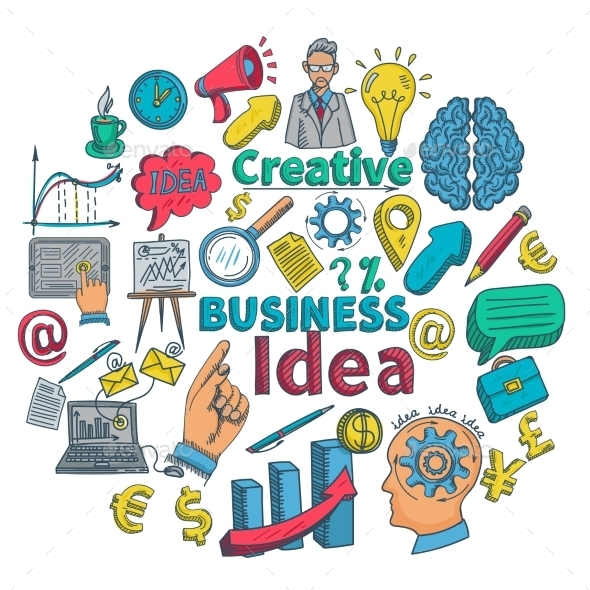 Creative Icon Doodle - Concepts Business