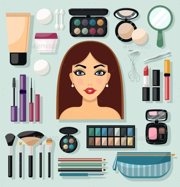 Make-Up Icons - People Characters